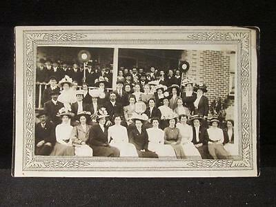 Sorority & Fraternity Early 1900s B&W Real Photo Unused Postcard