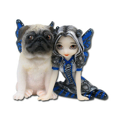 Pug Pixie Strangeling Fairy Figurine By Jasmine Becket-Griffith Dog Collectible