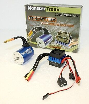 Monstertronic MT2319 Booster 60A Brushless-Combo 1:10 60A 2-3S - Neu / Ovp