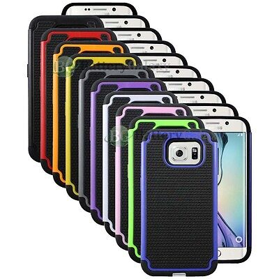 Lot of 10 Hybrid Rugged Rubber Hard Case Cover Skin for Samsung Galaxy S6 Edge