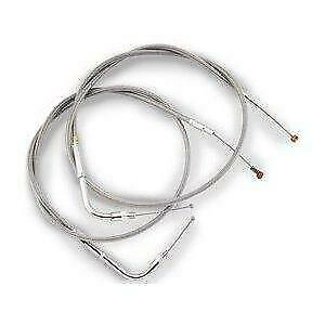 Barnett - 102-30-41007-08 - Stainless Clear-Coated Idle-Cruise Cable (+8in.)~