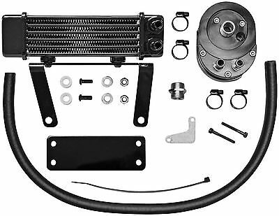 Jagg Oil Coolers - 750-1290 - Horizontal 6 Row Oil Cooler, Low Mount - Black~