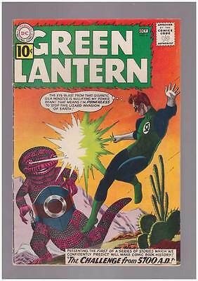 Green Lantern # 8  The Challenge from 5700 A.D. !  grade 5.5 scarce SA DC book