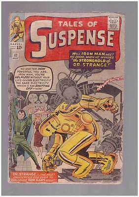 Tales of Suspense # 41  Stronghold of Dr. Strange ! grade 1.8 scarce hot book !!
