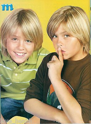 """DYLAN & COLE SPROUSE - NICE SMILE - 11"""" x 8"""" MAGAZINE PINUP - POSTER"""