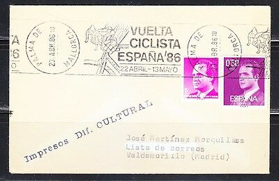 Spain 1986 cover Cycling Vuelta a Espana Bicycle race