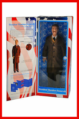 """President Theodore Roosevelt 12"""" Talking Toy Presidents Collectible Figure NIB"""