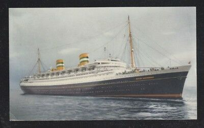 Netherlands 19(?) Holland America Line Ship Ss Nieuw Amsterdam Postcard Unused