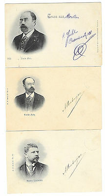 JUDAICA AFFAIRE DREYFUS ensemble de 3 cartes Zola Maitre Labori