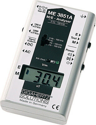 Gigahertz Solutions ME3851A EMF Meter Gauss Meter Electric + Magnetic Fields