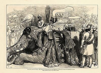 1876 -  Stich - Th - Indien - India - Elefant  (22559)