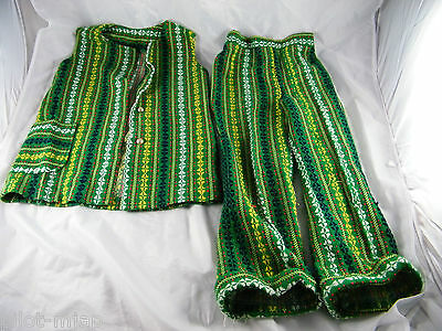 Vintage ~ Sears Child's Size 5 ~ Decorative Green Pants And Vest ~ St. Patrick