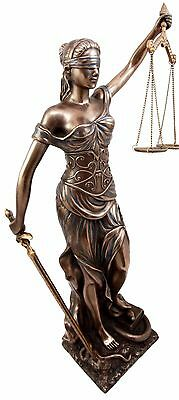 Greek Goddess Themis Lady Justice Statue With Scales. La Justica Figurine