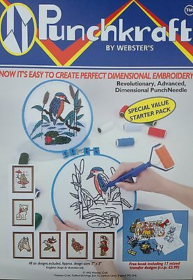 Dimensional Loop Embroidery Starter Kit with Punch Needle BRITISH  BY WEBSTER's