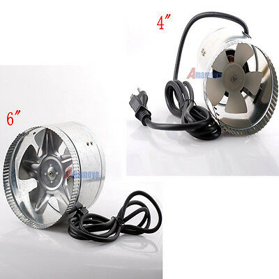 "4"" 6"" inch Duct Fan Booster Inline Cool Air Blower Exhaust Vent F050 Fast Ship"