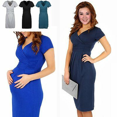 Hot New Pregnant Women Maternity Short Sleeve Casual Dress Cotton Summer Clothes