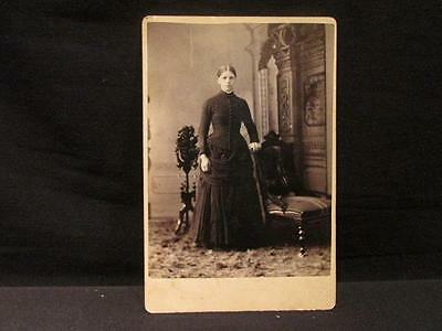 W H Fowler Mitchell Ont Antique Cabinet Photo Young Woman Standing