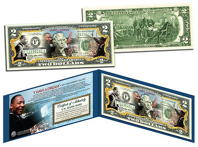 MARTIN LUTHER KING (MLK) * 50th Anniversary * U.S. $2 Bill Genuine Legal Tender