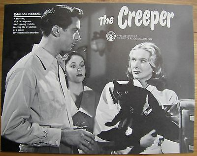 THE CREEPER Black Cat Mad Scientist HORROR Onslow Stevens VINTAGE MOVIE FLYER