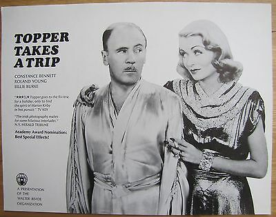 TOPPER TAKES A TRIP Constance Bennett Roland Young Billie Burke OLD MOVIE FLYER