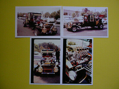 """COLOR PHOTOS OF THE MUNSTERS LIMOUSINE  4"""" x 6"""" FROM THE  1960's"""