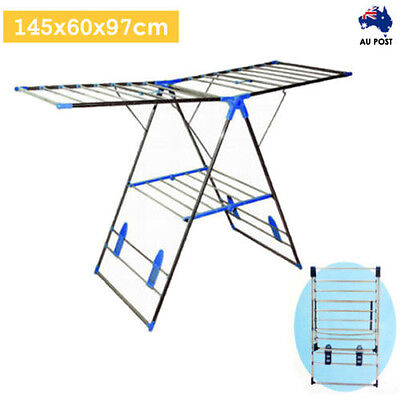 Stainless Steel Dryer Foldable Clothes Garment Rack Laundry Drying Hanger Airer