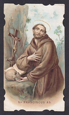 SAN FRANCESCO D'ASSISI 10 SANTINO HOLY CARD IMMAGINETTA RELIGIOSA - primi '900