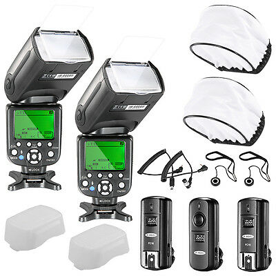 2x NW-982IIC for Nikon + TRIGGER+ RECEIVER + SOFT DIFFUSER *2+ LENS CAP HOLDER*2
