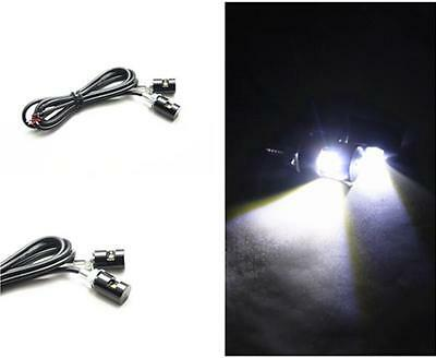2pcs White LED SMD Motorcycle&Car License Plate Screw Bolt Light lamp bulb 12V