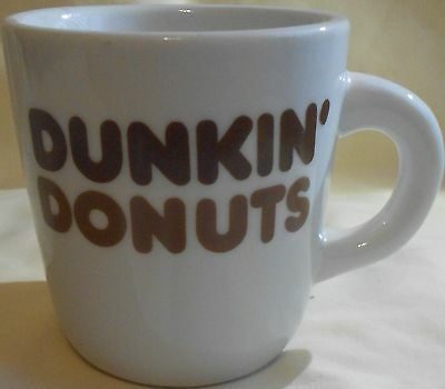 Dunkin Donuts Vintage Coffee Mug - Brown Letters