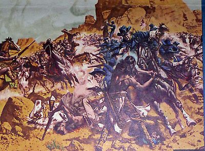 PAINTED DESERT ARIZONA 27x41 FRANK MCCARTHY artwork original movie poster 1964