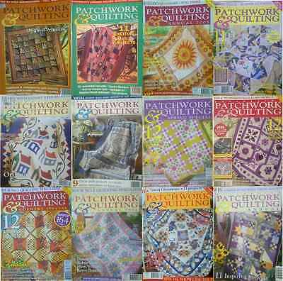 12 Australian Patchwork & Quilting Magazine With Paper Pattern Good Condition