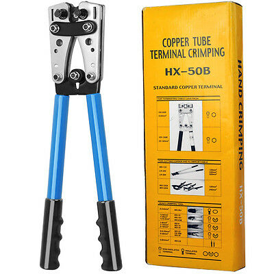 6-50mm² Electrician Cable Crimper Wire Pliers Ratchet Crimping Hand Tools