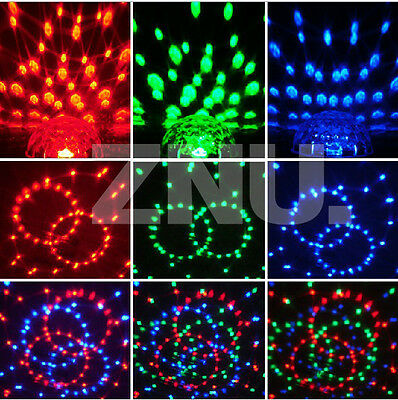 DMX 6CH Disco Stage Lighting LED RGB Crystal Ball Effect Laser Voice Control
