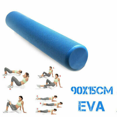 EVA PHYSIO FOAM AB ROLLER YOGA PILATES EXERCISE BACK HOME GYM MASSAGE 90x15cm