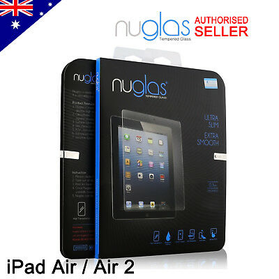 GENUINE NUGLAS Premium Tempered Glass Screen Protector For Apple iPad Air/ Air 2