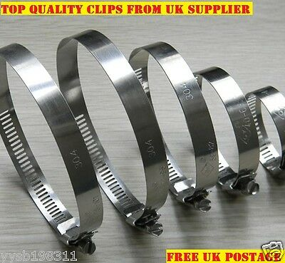 STAINLESS STEEL HOSE CLIPS, PIPE CLAMPS, WORM DRIVE *All Sizes on MM and INCH*