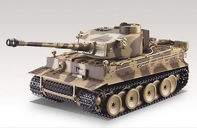 German Tiger I Battle Tank R/C 1:24 Airsoft Metal Cannon Model Heavy Panzer
