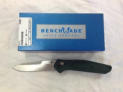 NEW Benchmade 940 Osborne S30V Reverse Tanto Blade Green Aluminum Handle