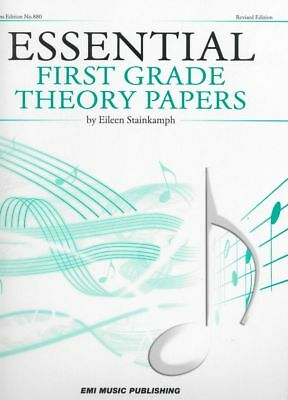 ESSENTIAL FIRST GRADE THEORY PAPERS Book *NEW* Sheet Music, Eileen Stainkamph