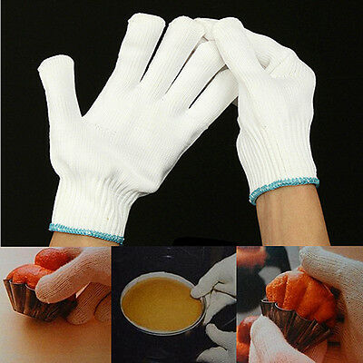 Heat Resistant Finger Gloves Protective Burn Heatproof BBQ Grill Oven Kitchen