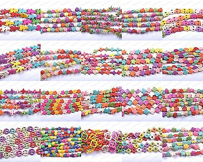 1 Strand Many Style Choose Charms Turquoise Howlite Spacer Beads Jewelry Making