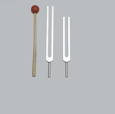 Cellulite Fat Weight Reduction Tuning forks +Mallet for Sound Healing Therapy
