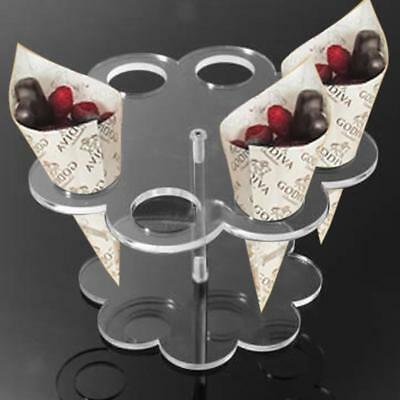 Ice Cream Cake Candy Cone Display Holder 8 Holes for Wedding Party Buffet