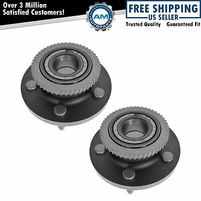 Front Wheel Hub & Bearing Left & Right Pair Set for Ford Mercury Lincoln