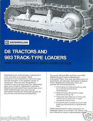 Equipment Brochure - Caterpillar - D8 983 - Tractor Loader Undercarriage (E2296)