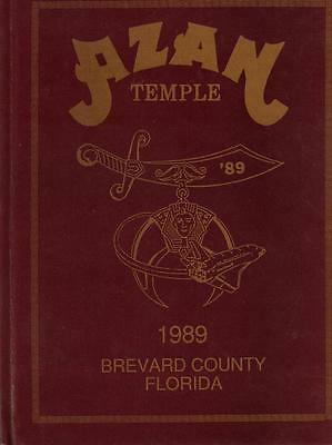 1989 Azan Temple Yearbook Brevard County Florida Vgc