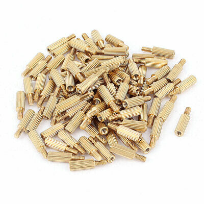 100pcs M2 Female x Male 8mm+4mm Knurling Brass Standoff Spacer for Motherboard