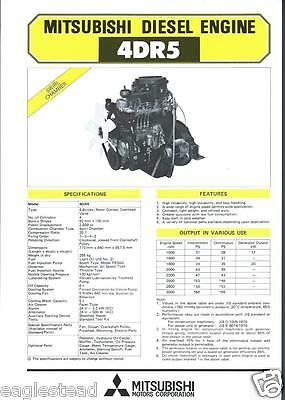 Equipment Brochure - Mitsubishi 4DR5 Engine Power Unit - Farm Industrial (E2299)