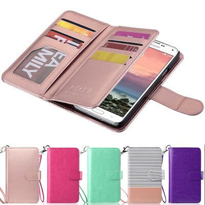 Luxury Magnetic Flip Leather Card Cover Case Wallet For Samsung Galaxy S5 S8 S8+